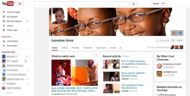 Ann Kansiime Popular YouTube comedian