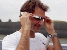 Roger Federer Google Glass