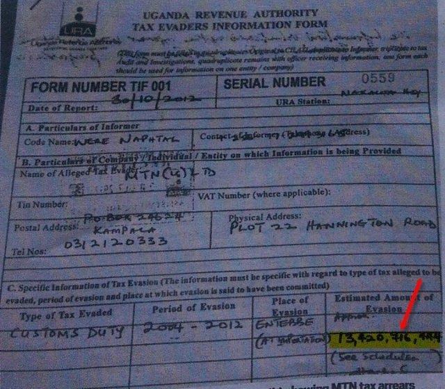 URA accues MTN 13b tax evasion