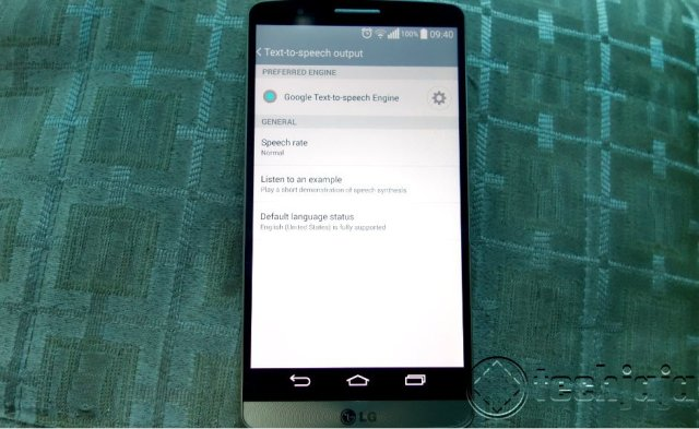 how to change the Android voice