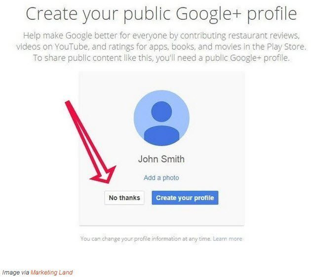 google plus no longer mandatory