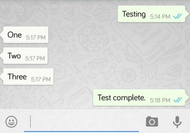 WhatsApp double tick