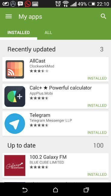 update your app manually