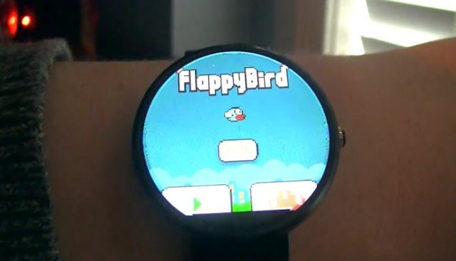 ANdroid wear flappy bird