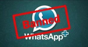 Whatsapp plus banned