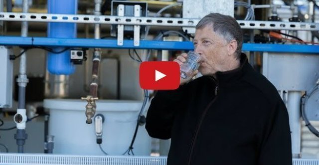 bill gates drinks sewage water