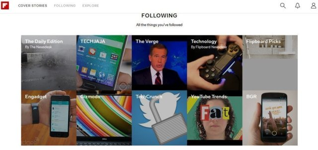 Flipboard on web