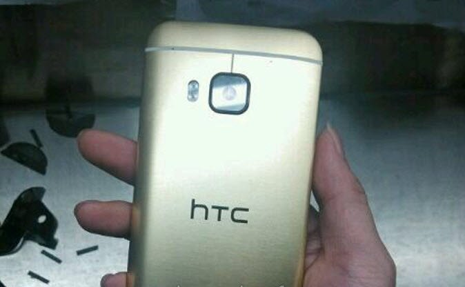 The HTC One M9 leaks in a gold color scheme