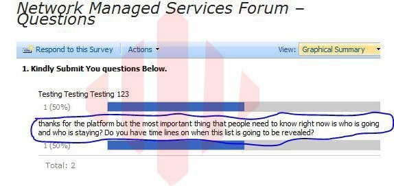 A screenshot from the Intranet Portal