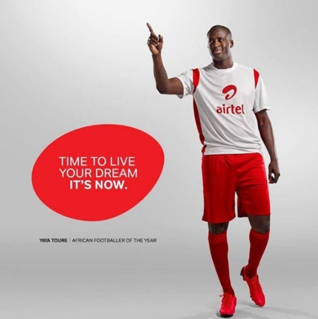 Its now Airtel Yaya Toure