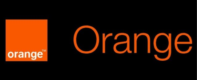 Logo Black white Orange