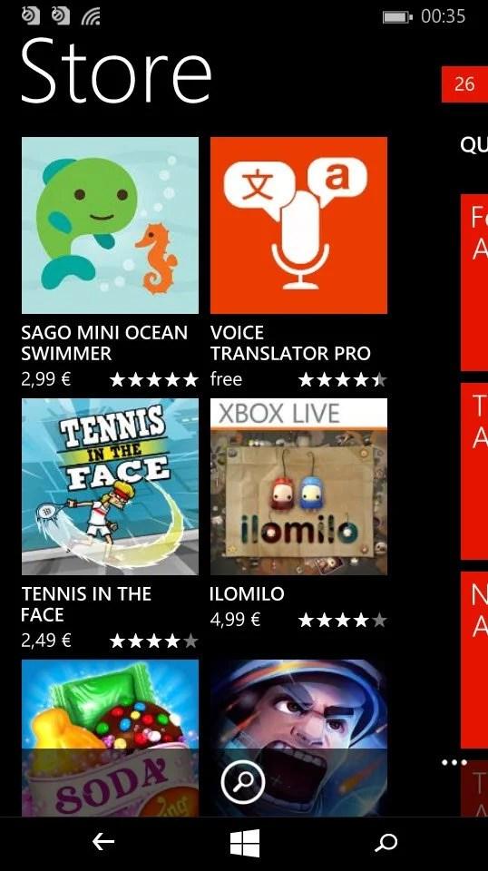 Lumia 535_ WP8.1_WP Store