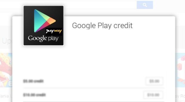 Payway Google Play credit