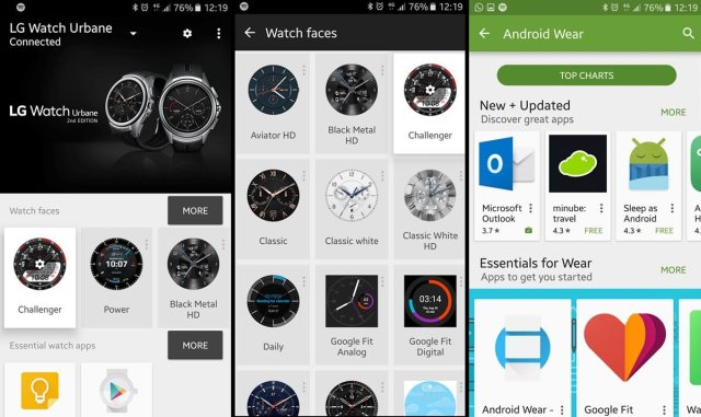 Android Wear Manager, Watch Faces and Wear App store