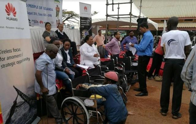 Huawei and Airtel CSR wheelchairs