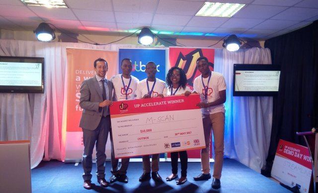 first winners in the UpAccelerate Cycle II mSCAN_Ug_ hackathon