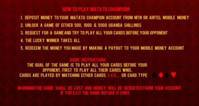 Matatu Champion how to play