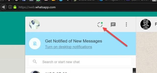 WhatsApp status for web
