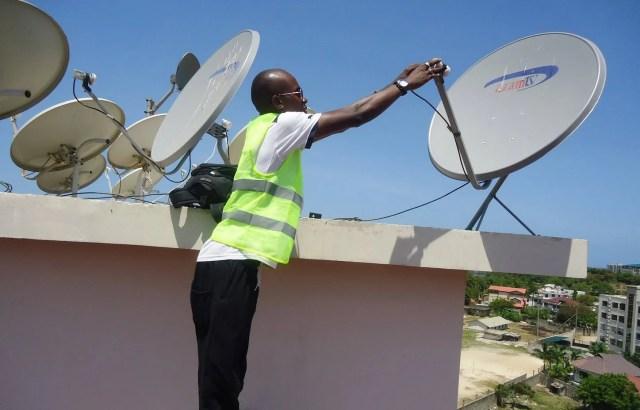 Azamtv satellite installation