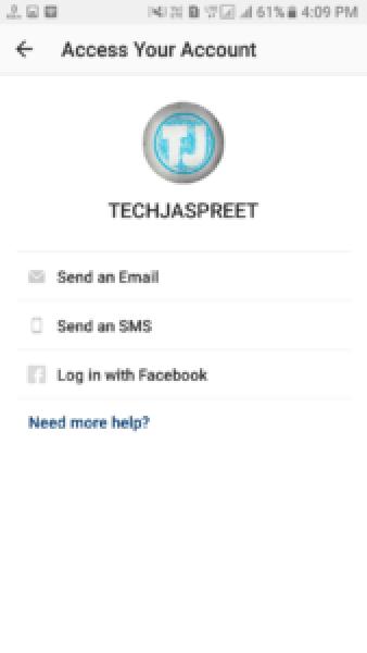 How To Reset Instagram Password Using Phone Number