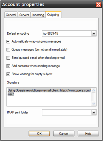 Setting up IMAP enabled Gmail in Opera 9 24