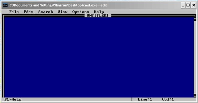 Using the MS-DOS Text Editor in Windows XP