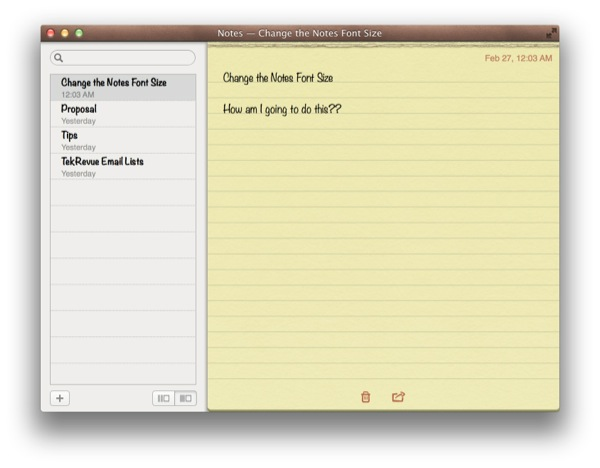 Change Notes Default Font OS X