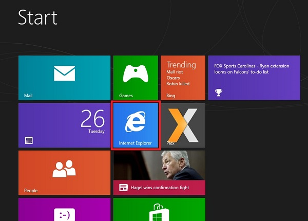 Windows 8 Ställ IE i Metro-läge