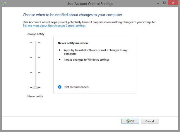 Windows 8 Disable UAC