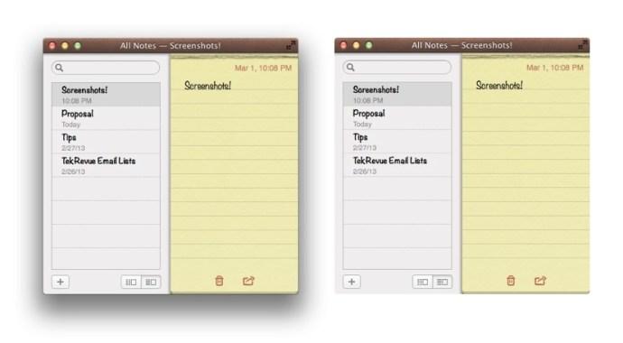 OS X Screenshot Drop Shadow Comparison