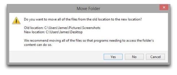 Windows 8 Change Screenshot Folder