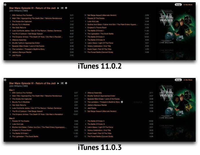 iTunes 11.0.3 Multi-Disc View