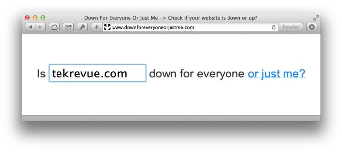 Check a Website's Status with Down for Everyone or Just Me