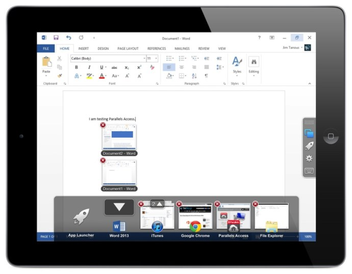 Parallels Access Review App Switcher