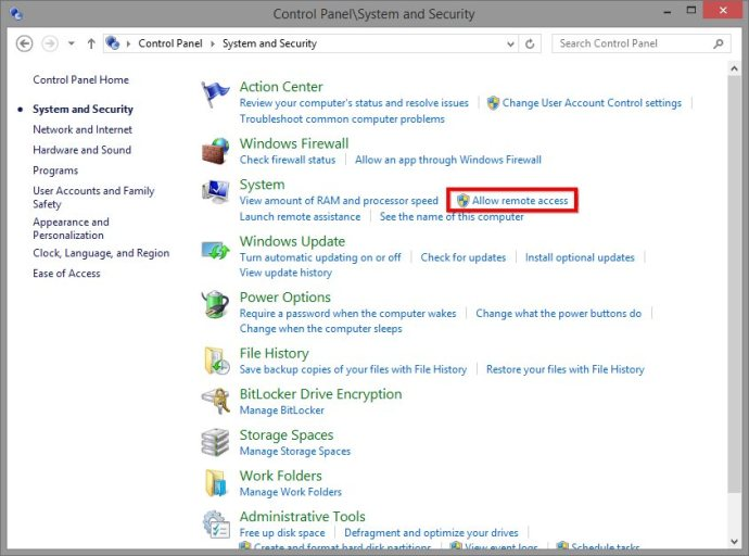 How to Enable Remote Desktop Access in Windows 8