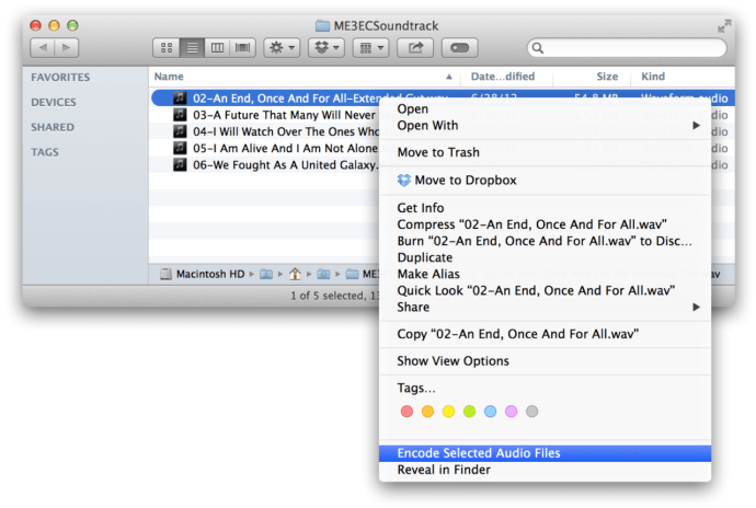 How to Convert and Encode Audio Files with Mac OS X Finder