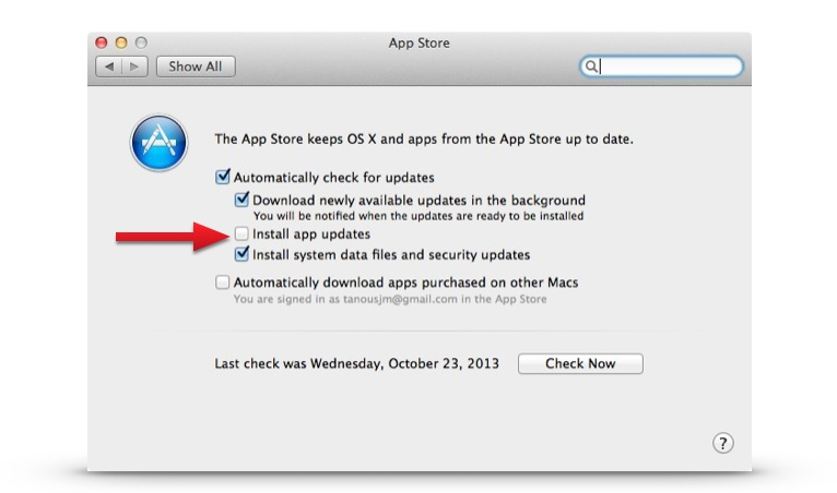How to Disable Automatic App Updates in Mac OS X Mavericks
