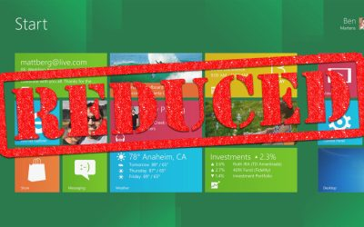 Windows 8 Start Screen Reduced