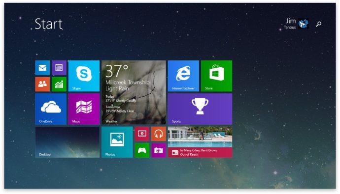 Windows 8.1 Update 1 Start-skärm Strömbrytare inaktiverad