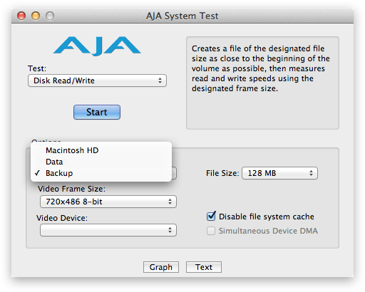 How to Configure AJA System Test to Measure Network Bandwidth