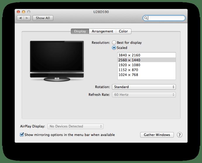 OS X 10.9.2 4K System Preferences