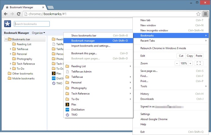 Chrome Export Bookmarks