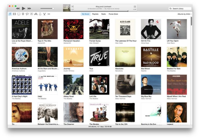 iTunes 12 Music Album View