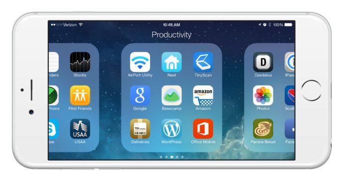 iPhone 6 Plus Folder Landscape Mode