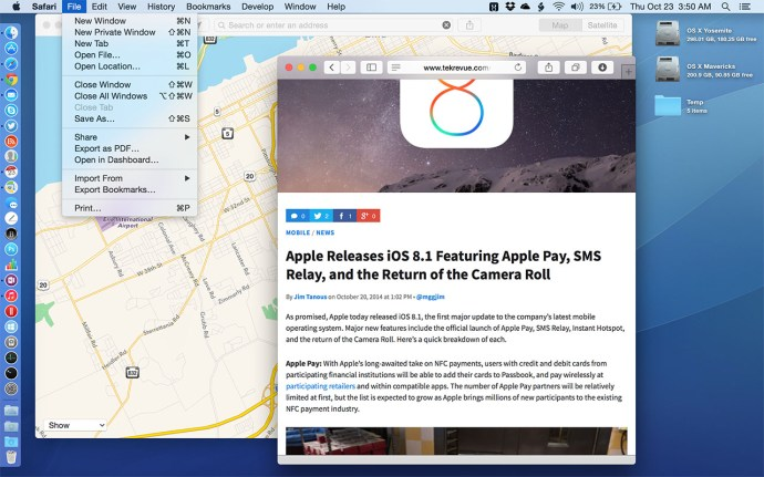 OS X Yosemite Transparency Effects