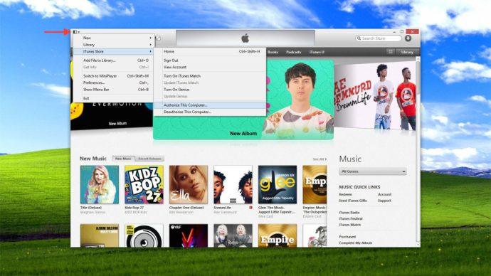 authorize iTunes windows