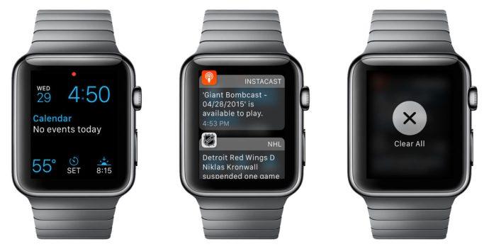 clear apple watch notifications