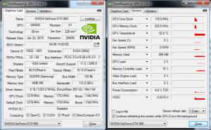 Screenshot of GPU-Z Temperature Monitoring Utility
