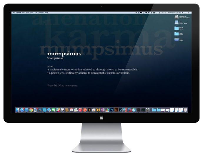mac screen saver desktop background