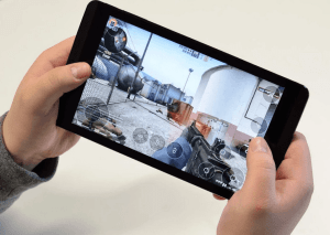 A FPS Video Game Being Played On Remotr